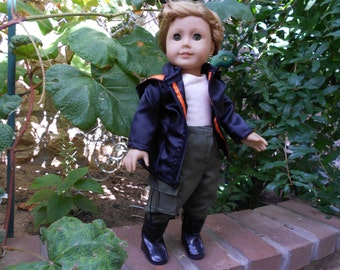 Girl Power Super hero costume outdoor outfit fits American Girl 18 inch dolls handmade in USA