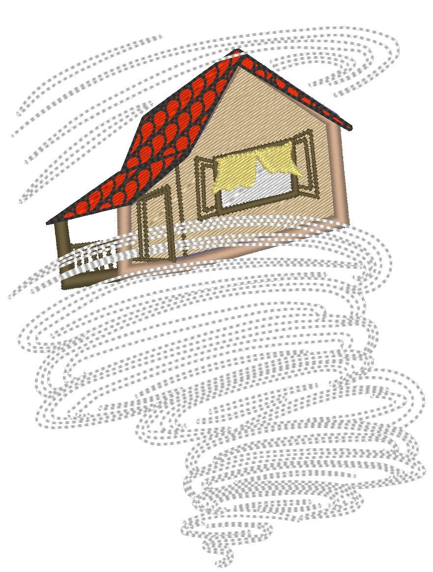 Dorothy house in tornado The Wonderful Wizard of Oz