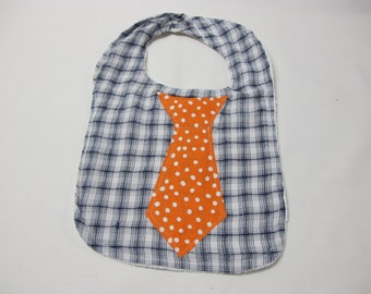 One of a kind baby boy neck tie bib