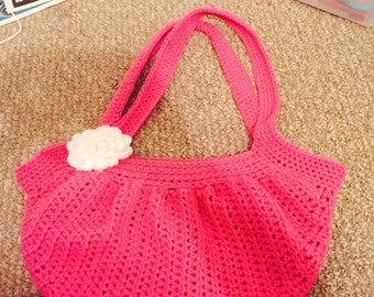 Crochet fat bottom bag