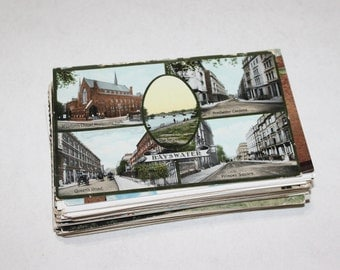 SALE - 89 Vintage England Postcards - DAMAGED