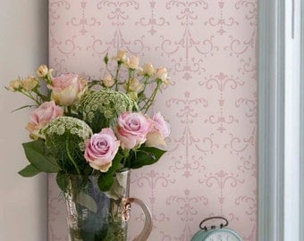 Wall Stencil - Italian European Style Decor - Old World Vintage Wallpaper Patterns for Painting