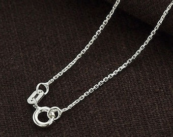 18 inches of 925 Sterling Silver Fine Cable Chain Necklace 1mm. Delicate Chain  :th2343-18
