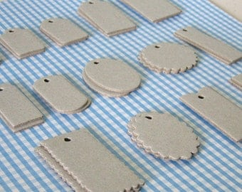 Assorted Mini Chipboard Tags Set - 28 piece, two of each style