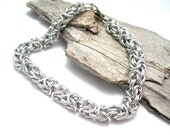 Chainmail Bracelet - Byzantine Chainmaille Bracelet - Byzantine Bracelet - Chainmaille Jewelry - Bright Silver Bracelet - Chainmail