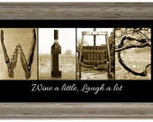 Wine Alphabet Photography Framed Letter Photos