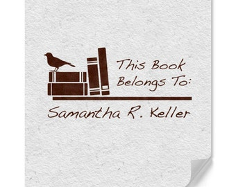Personalized Library Stamp, Custom Name Library Stamp, Book Marking Stamp, Home Library Stamp, Housewarming Gifts, School Stamp, Kid Stamps