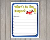 Dr. Seuss Game - What's in the Diaper - Baby Shower