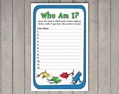 Dr. Seuss Game - Who Am I