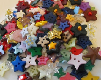 25 Star Buttons - Grab Bag