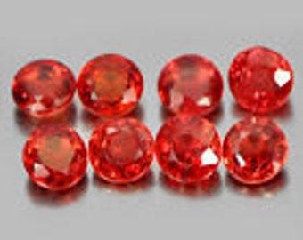 All natural orangish red Songea Sapphires #9545