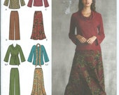Plus Size Wardrobe Simplicity Easy-To-Sew Pattern Sizes 20W-28W Size Top, Pants, Skirt and Sash or Scarf