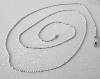 14kt white gold wheat chain 1mm 18 inches