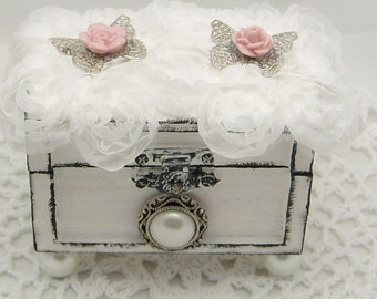 Shabby Chic Butterfly Jewelry Box