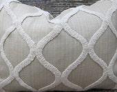 3BModliving Designer Pillow Cover - Boucle Trellis Tan - 12 x 16, 12 x 18, 12 x 20, 16 x 16, 18 x 18,