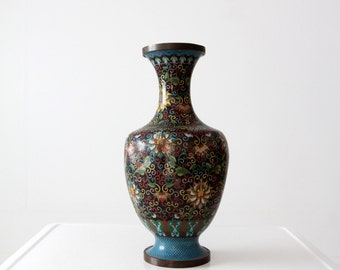 antique Chinese cloisonne bottomless vase