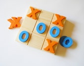 Tic Tac Toe Game, Wooden Game, Classic Game, Stocking Stuffer