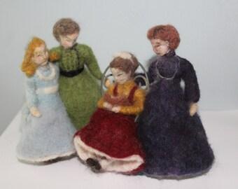 Little Women  needle felted figures