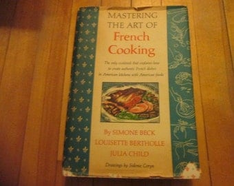 Julia Child Mastering the Art of French Cooking 1st Edition 13th Printing 1966 With Dust Jacket Good to Very Good Condition