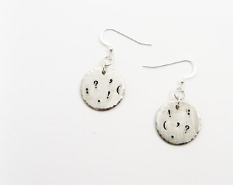Punctuation Earrings with Question Mark, Exclamation Point, and More for Editor, Writer, Teacher Gift