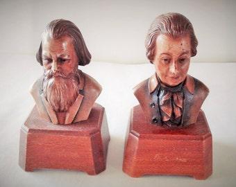 Vintage THORIART Mozart Brahms Musical Figurines Switzerland.