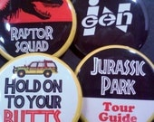 "Jurassic Park Inspired Button Set, 1.5"""