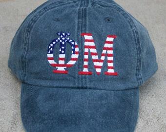 Phi Mu American Flag Cap