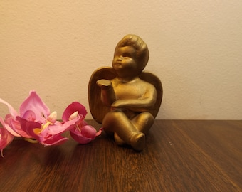 Art Deco ceramic Sculpture Figurine, Antique Angel Blowing Kiss.Collectible angel.Home Decor, Gift,antique, guardian angel for any home.Gift