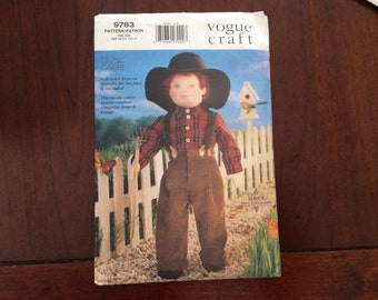 Vogue Pattern 9783 To Make an 18 Inch Boy Doll and Clothing Out of Print, Uncut