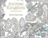 Adult Coloring Book - Animal Kingdom Color Me, Draw Me - by Lark Books - Shipping Only 4 Dollars (500580)