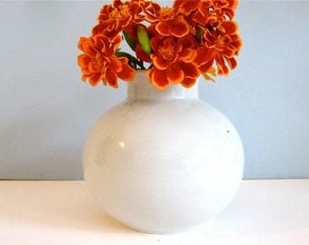Vintage Poole Pottery England bud vase, porcelain pottery bud vase