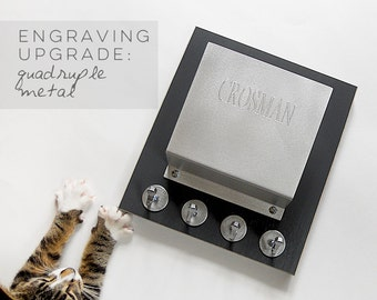 quadruple ENGRAVING upgrade for metal mail holders: customize, personalize it
