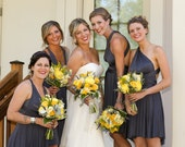 Convertible Dress Bridesmaid Dress - Jersey Infinity Wrap Style