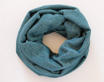 Teal Infinity Scarf Jersey Knit Infinity Scarf Sparkly Fashion Accessories Womens Scarves Wraps Shawls