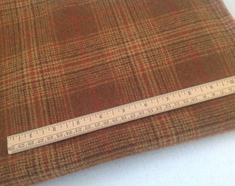 Fat 1/4 Yard, Mill Dyed Wool Fabric for Rug Hooking and Applique, Canyon Gold, J956, Deep Gold Plaid, Copper Gold, LAST ONE