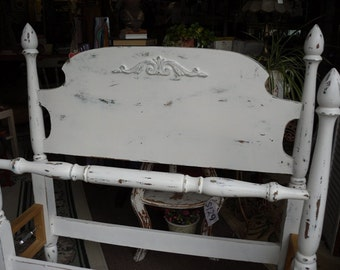 Antique Headboard and Foot Board Four Poster Bed, Hand Painted SINGLE TWIN