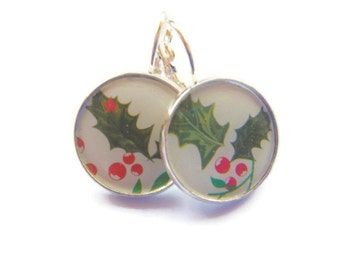 Christmas Holly Berry Earrings