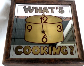 KITCHEN Wall Clock- What is Cooking- CROCKPOT- Time Clock 2017 Vintage Trends