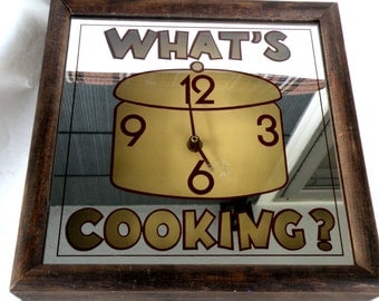 square kitchen wall clock kitchen housewares clock home and living clock farmhouse clock crockpot clock
