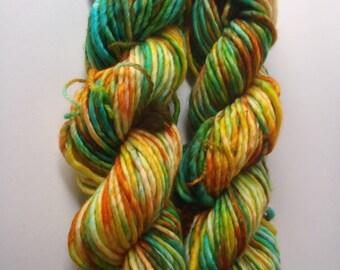Super Bulky, Hand Dyed Yarn, Superwash Merino, Single Ply,  Super Bulky yarn, Super chunky, Hand dyed,  Yarn, On A Barrel Roll