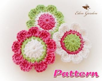 Candy Flower Crochet Pattern 02-EG