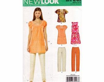Pants Shirt Mini Dress Tunic Top Sizes  6 8 10 12 14 16 Bust 30 1/2- 38 UNCUT OOP Sewing Pattern New Look 6785 Wardrobe Pattern