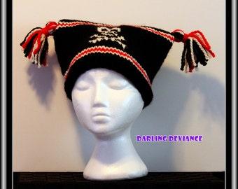 Skull - Tassled Sack Hat