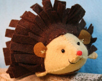 Porcupine Sewing Kit, Felt Porcupine Ornament, Felt Animal Craft Kit, Beginners Sewing Kit, DIY Sewing Kit,  'Prickles' Heidi Boyd