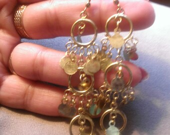 handmade goldplated earrings