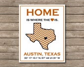 University of Texas Printable, Austin, Texas Longhorn Art Print Hook em!