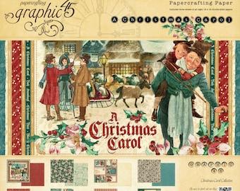 "Graphic 45's ""A Christmas Carol"" Collection 12x12 Pad"