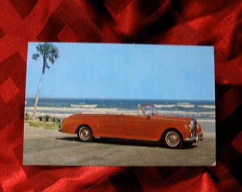 Rolls Royce Phantom V Convertible Limousine 1963 Postcard Car Automobile Long Island Auto Museum Post Card #113176 Souvenir Momento Vintage