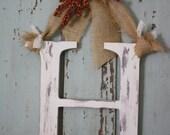 Autumn large letter Door Hanger Fall wedding decor-CHOOSE LETTER