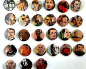 Buy 5 Get 1 FREE--Comic Pin Back Buttons Featuring Doctor Who Star Trek